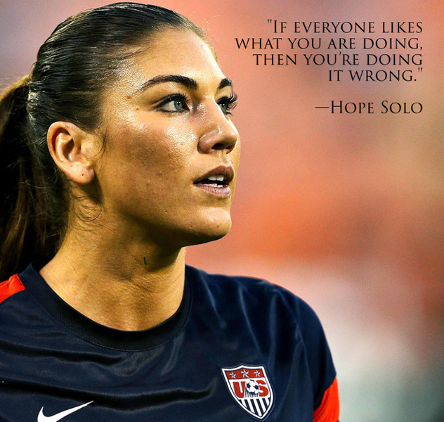 Motivational Quotes For Athletes Women: Strong Women: Hope Solo