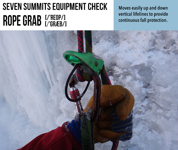 Susan Ershler, Sue Ershler, Seven Summits Toolbox, Seven Summits, Climbing, Everest, Rope Grab, Rope,