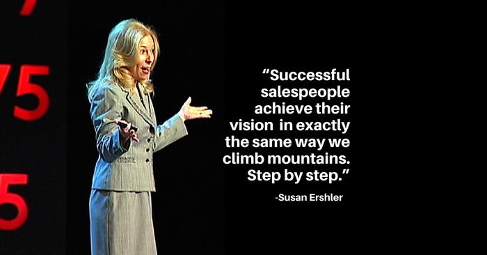Susan Ershler, Sue Ershler, Public Speaking, Success, Sales, Climbing