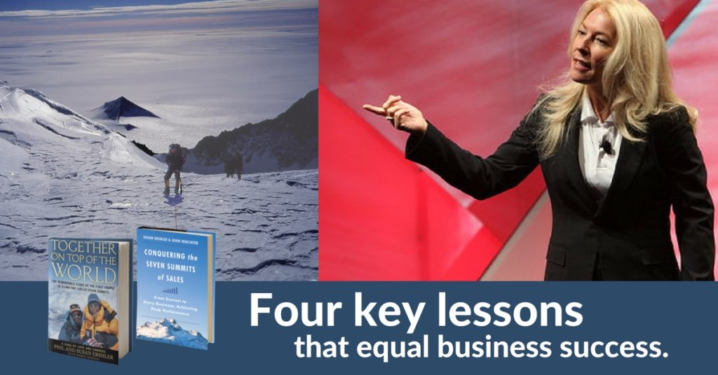 Susan Ershler, Four key lessons that equal business success.