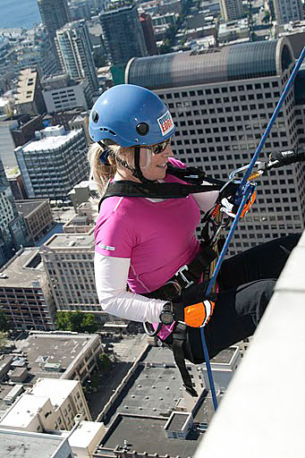 Rappelling off 41 story building for Special Olympics