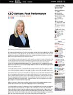 Seattle Business Magazine: CEO Adviser: Peak Performance